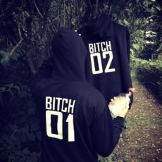 """Bitch 01 Bitch 02"" Hoodies"